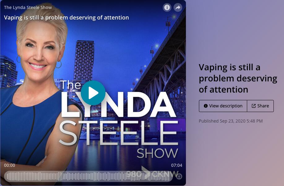 The Rapid Rise of Vaping - Lynda Steele